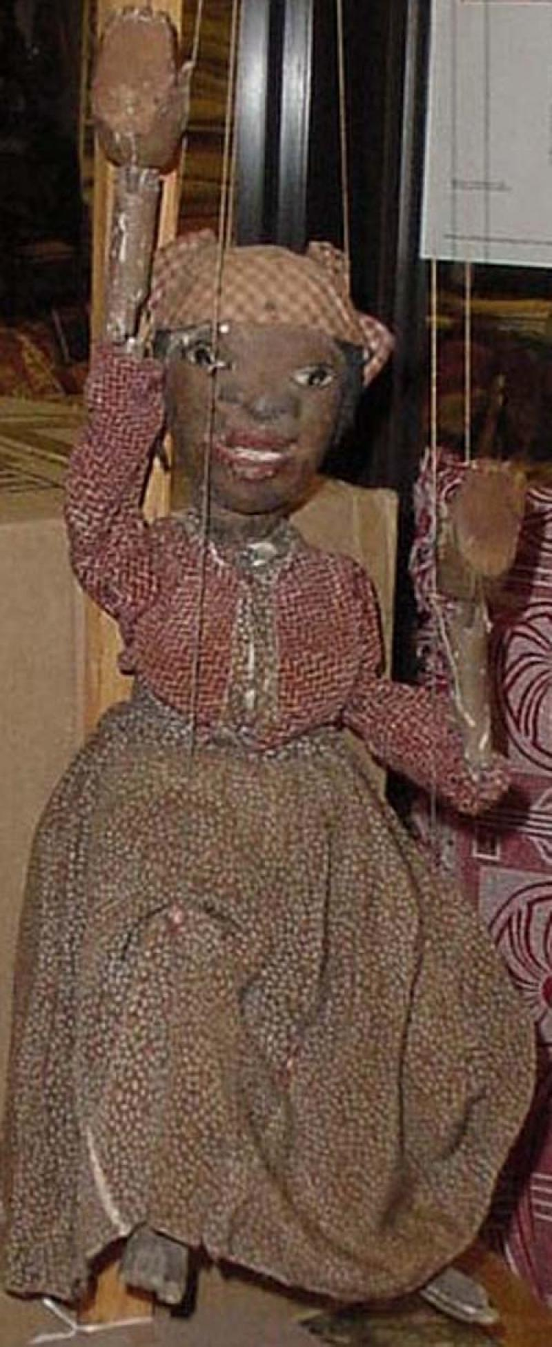 ANTIQUE MARIONETTE of a BLACK WOMAN, 19th c