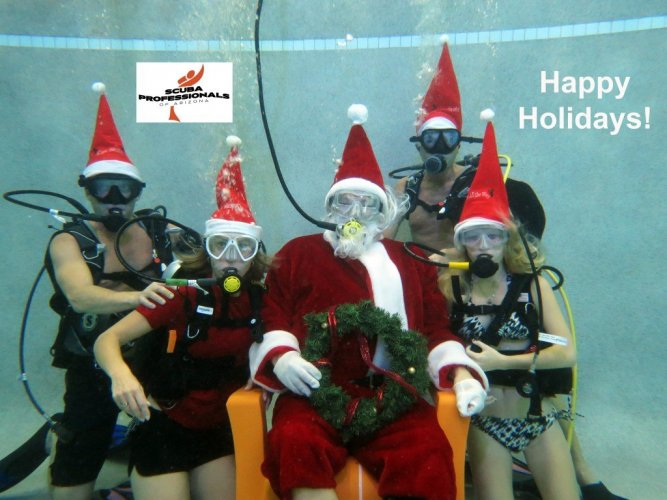 Scuba Professionals of Arizona's Scuba Santa Day