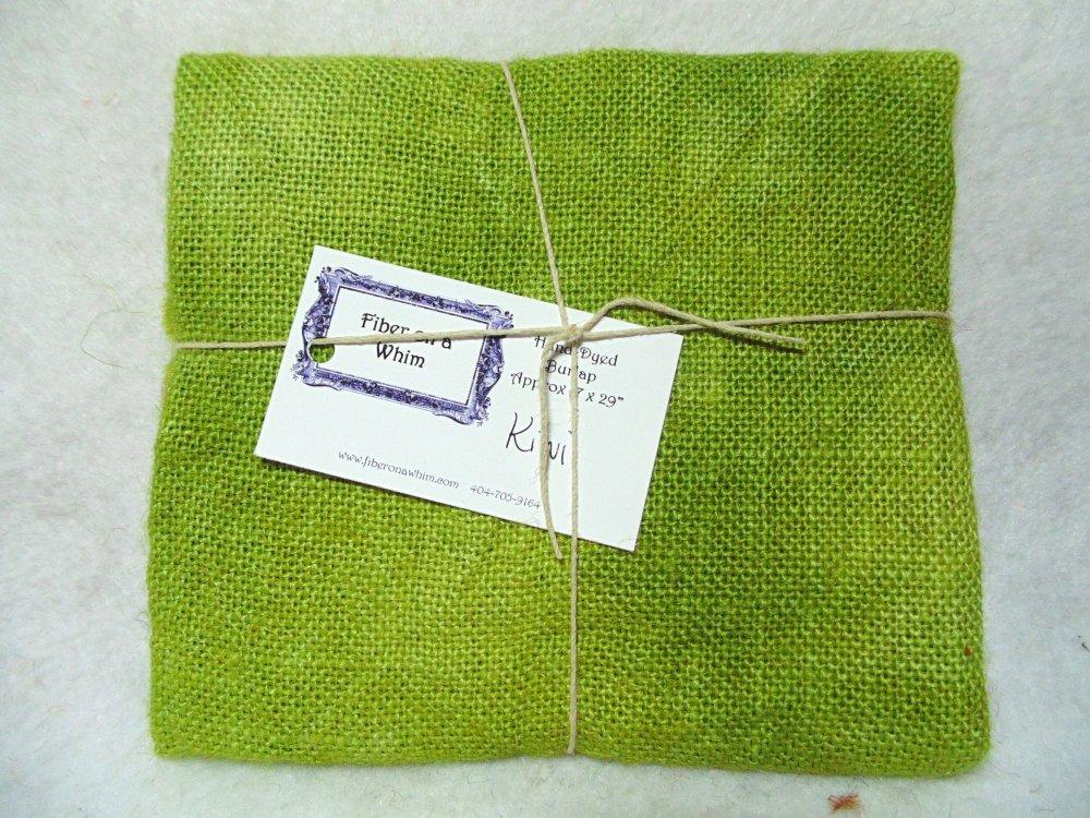 Kiwi Hand-Dyed Burlap