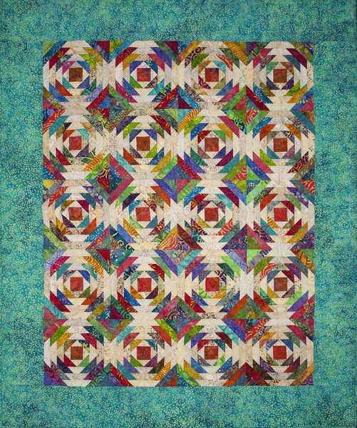 Paper Table Runner Pineapple Quilt