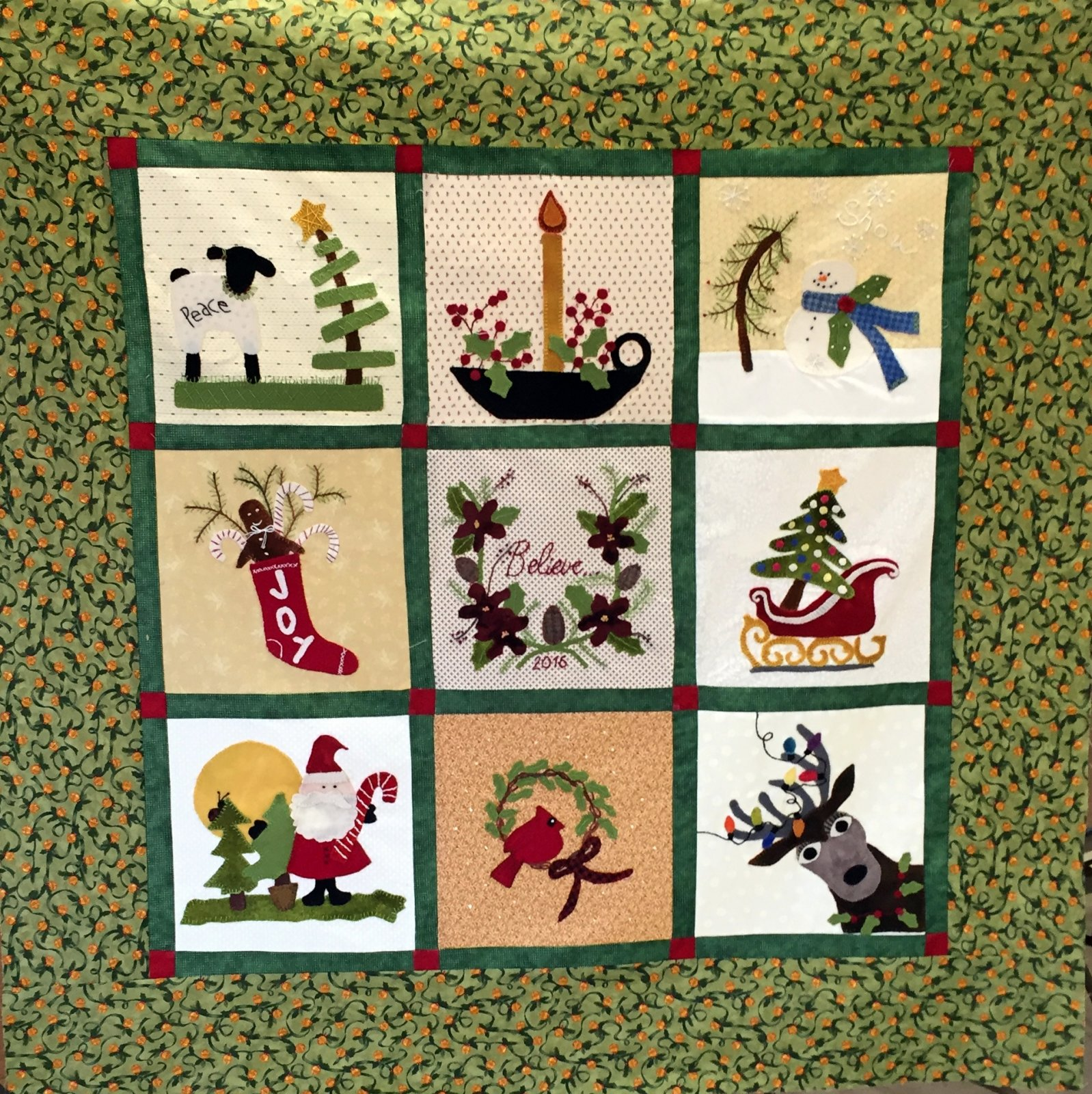 Quilt Block Patterns Christmas : WOOL APPLIQUE CHRISTMAS QUILT BLOCK OF THE MONTH W/PAULA K