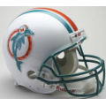 Miami Dolphins Throwback 80-96 Riddell Full Size Authentic Football Helmet