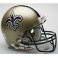 New Orleans Saints Riddell Full Size Authentic Football Helmet