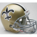 New Orleans Saints Throwback 67-75 Riddell Full Size Authentic Football Helmet
