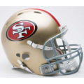 San Francisco 49ers Riddell Revolution Full Size Authentic Football Helmet