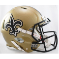 New Orleans Saints Riddell Revolution Speed Full Size Authentic Football Helmet