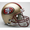 San Francisco 49ers Throwback 96-08 Riddell Full Size Authentic Football Helmet