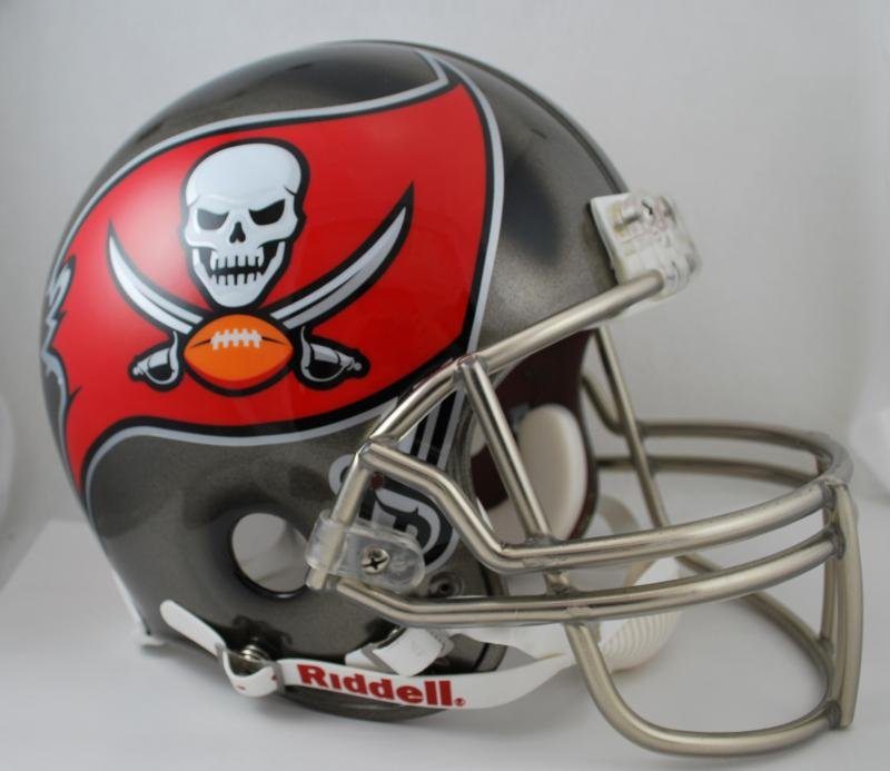 Tampa Bay Buccaneers Riddell Full Size Authentic Football Helmet