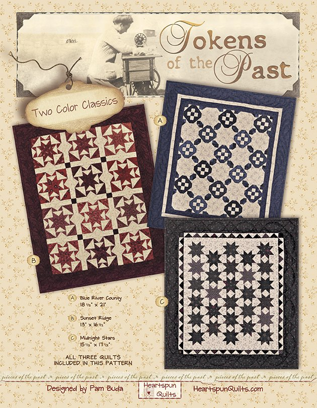 Midnight Stars Quilt Kit ~ Tokens of the Past: Two Color Classics