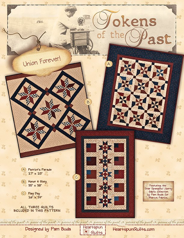 Tokens: Union Forever! Quilt Trio ~ Complete Kit