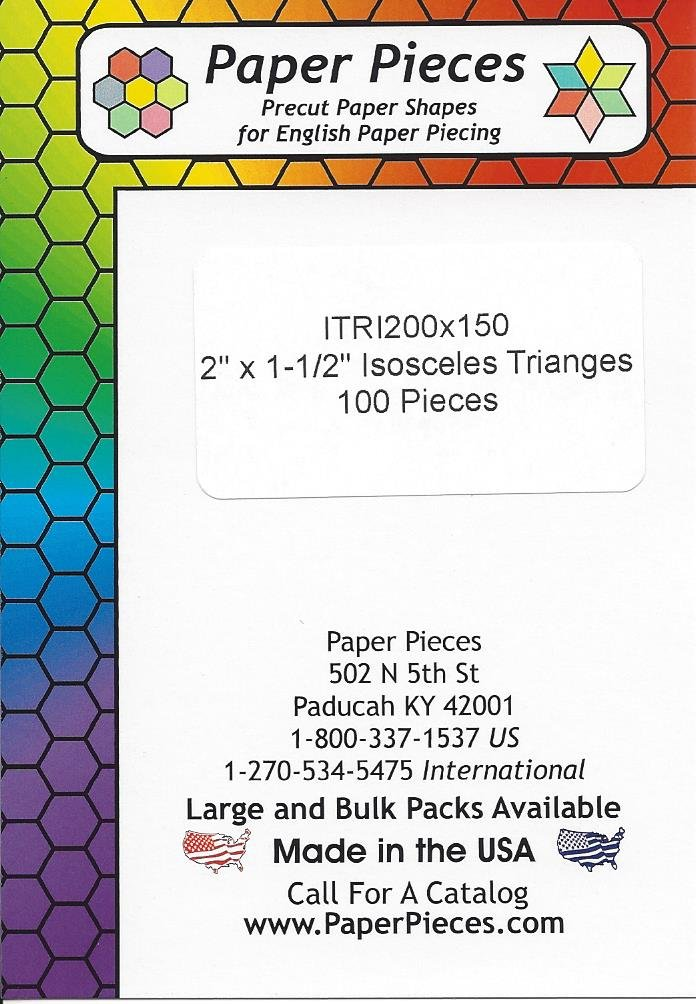 2 x 1 1/2 Isosceles Triangle Papers