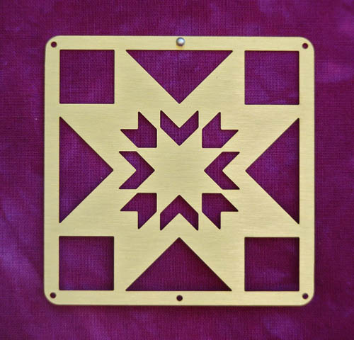 Barn Quilt Brass Mini Lone Star Block