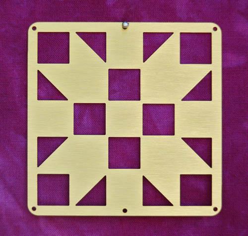 Barn Quilt Brass Mini--Sister's Choice Block