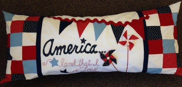 America, Land that I Love - Bench Pillow Kit