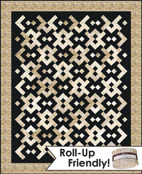 Line Art Quilt Kit : Yin yang quilt kit using the color source fabric line