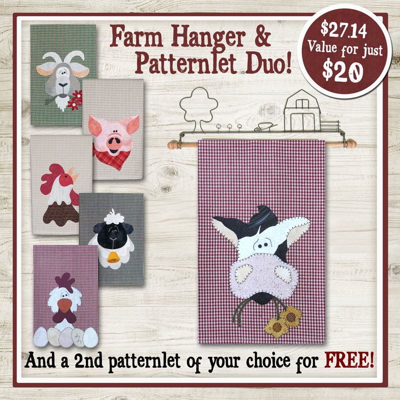 Farm Hanger and Patternlet Duo