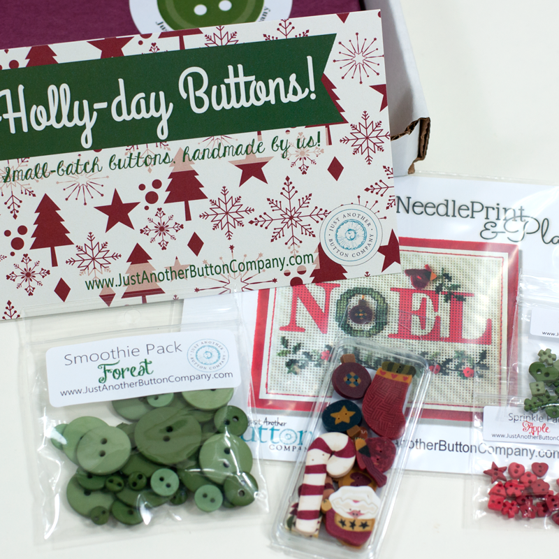 Limited Edition Holly-day Button Box