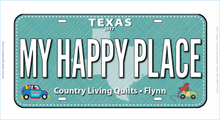 2017 License Plate My Happy Place 7