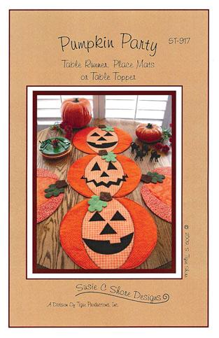 Pattern: Pumpkin Party - Table Runner/ Place Mats / Table Topper