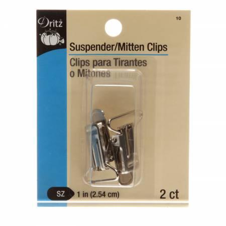 Suspender Clip Nickel 2 ct
