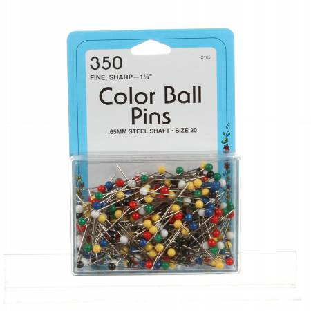 Color Ball Head Pin Size 20 - 1 1/4in 350ct