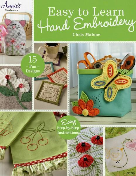 Easy to learn hand embroidery softcover