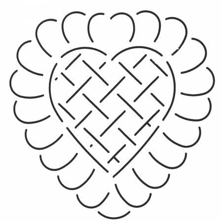 Quilt Stencil Battenberg Hearts