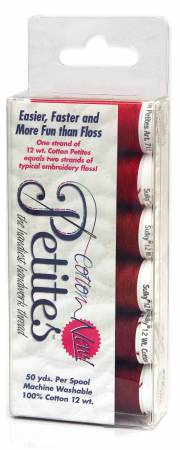 Petites 12wt Cotton Thread 6 Pack Redwork
