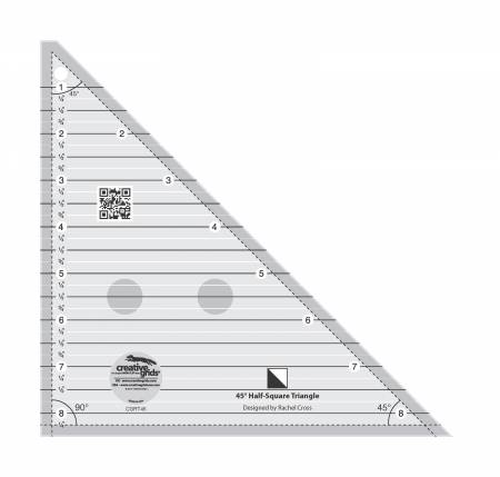 Creative Grids 45 Degree Half-Square Triangle 8-1/2in