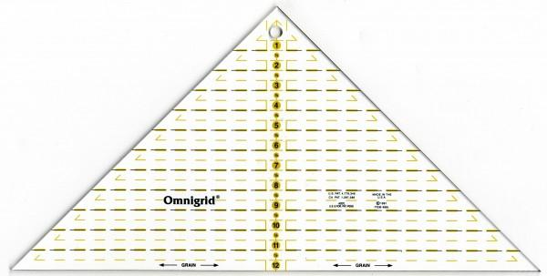 Omnigrid Right Triangle Up To 12in Square Ruler 762511109893