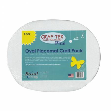 Placemat Craft Pack 16-1/2in x 13-1/4in Oval 4pk