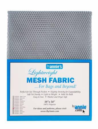 Lightweight Mesh Fabric Pewter 18x54in