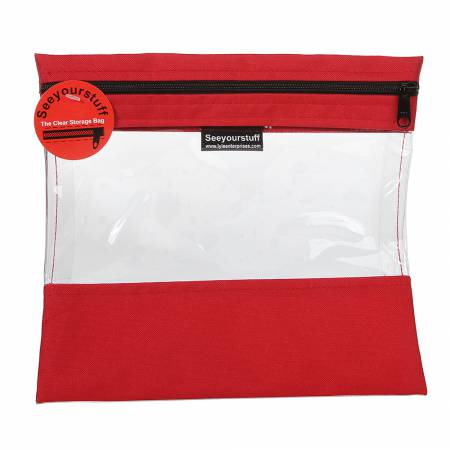 Bag See Your Stuff 10in x 11in Red