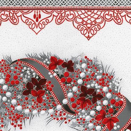 Holiday Flourish Wreath Panel 784626716087